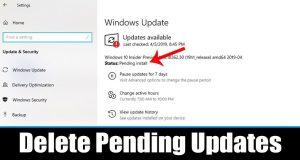 Comment supprimer toutes les mises à jour en attente sur Windows 10