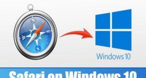 Safari sur Windows 10
