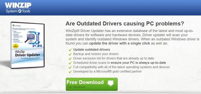 16. Winzip Driver Updater
