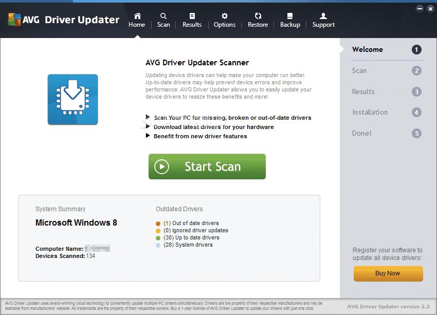 29. AVG Driver Updater