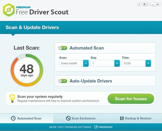 5. Free Driver Scout