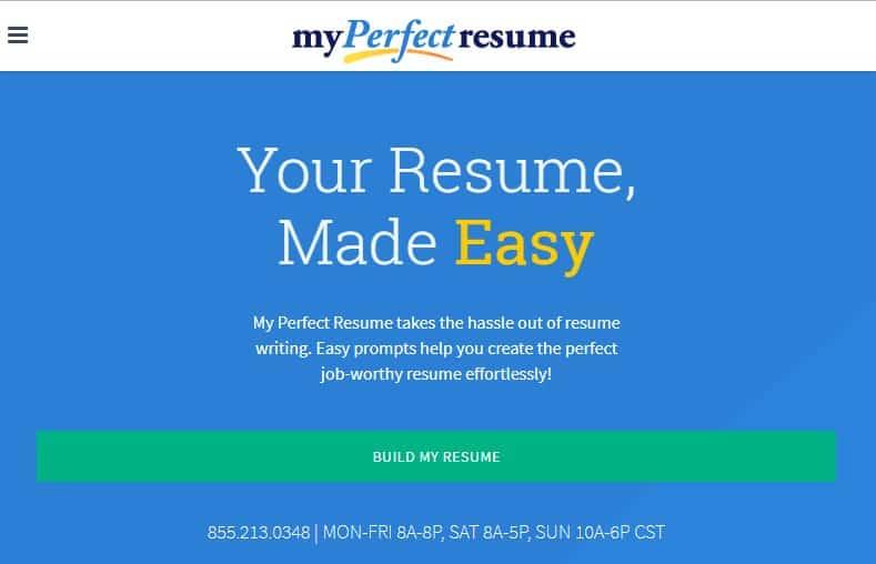 5. My Perfect Resume