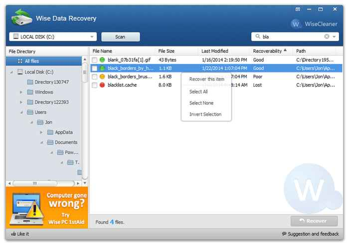 7. Wise Data Recovery