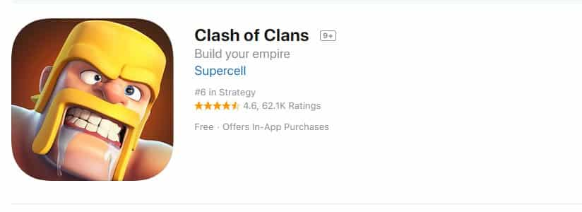 8. Clash of Clans