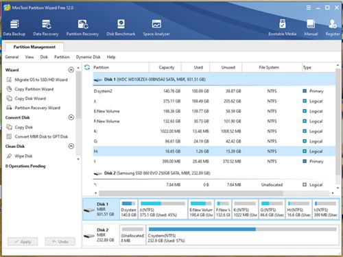 9. MiniTool Partition Wizard Free