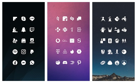 9. Whicons – White Icon Pack
