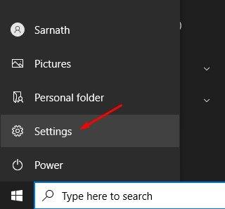 applications spécifiques sur un PC Windows 10