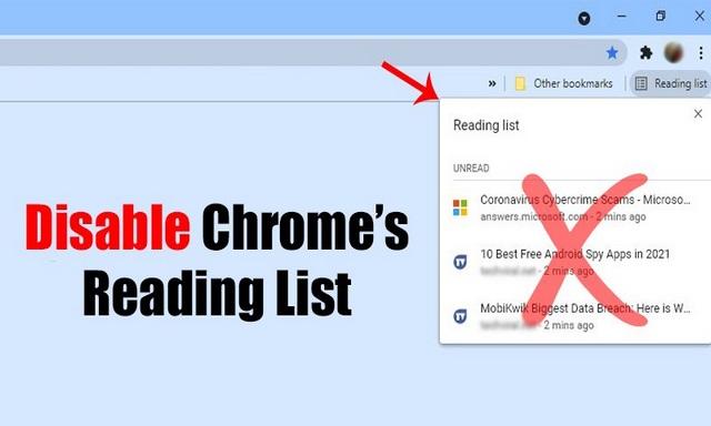 Comment désactiver et supprimer la fonctionnalité de liste de lecture dans Google Chrome