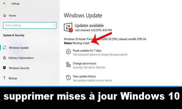 Comment supprimer toutes les mises à jour en attente sur un PC Windows 10