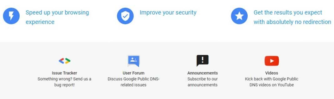 DNS public de Google