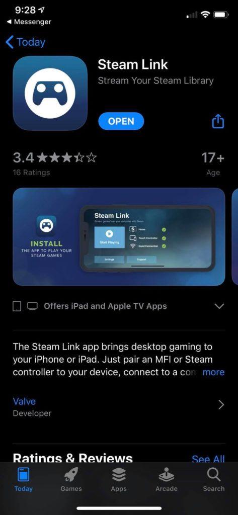 Étapes pour utiliser Steam Link