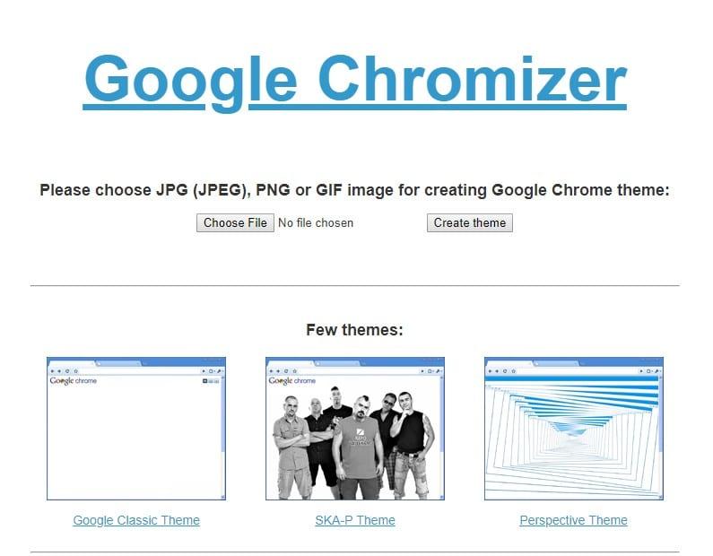 Google Chromizer