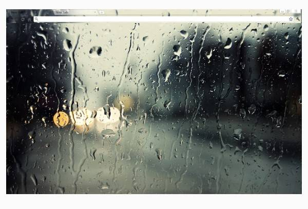 Gouttes de pluie (non aérodynamiques)
