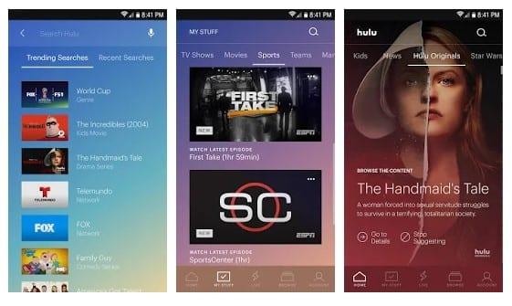 Hulu - meilleure application TV en direct