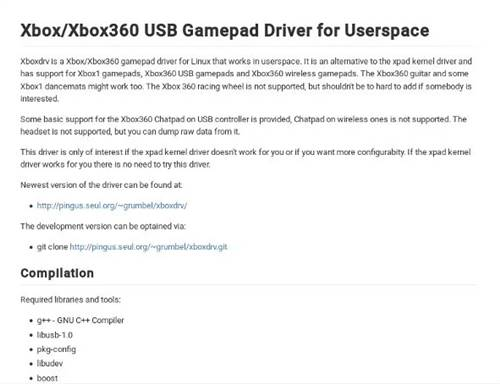 Installation du pilote XboxDRV