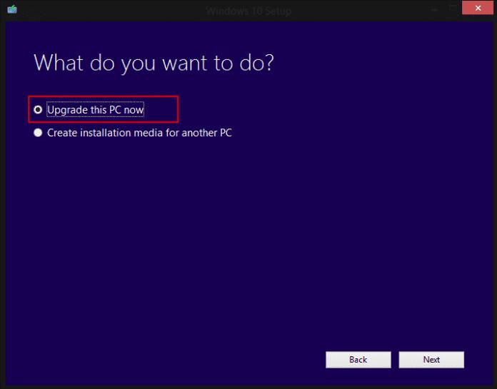 Mettre à niveau ce PC maintenant