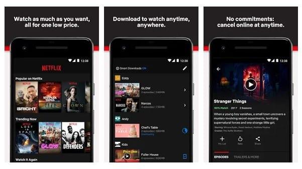 NetFlix - meilleure application TV en direct
