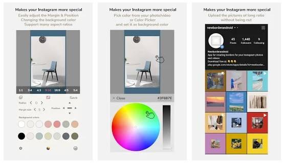 NewBorder pour Instagram