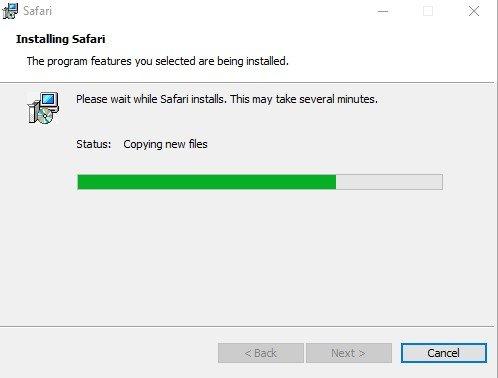 Apple Safari pour Windows 10