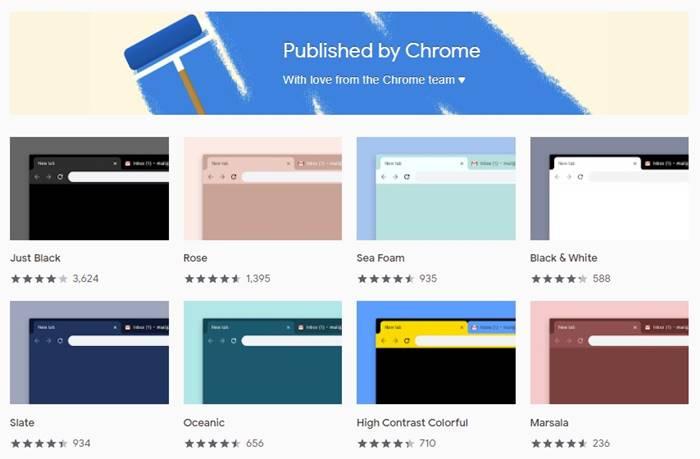 Thèmes de l'équip Chrome