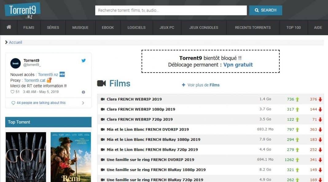 Torrent9 - meilleur site torrent