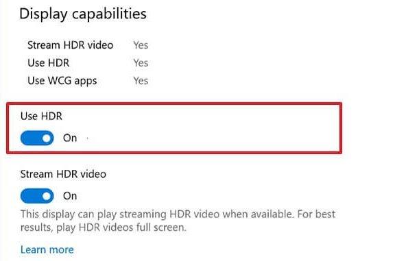 Utiliser HDR