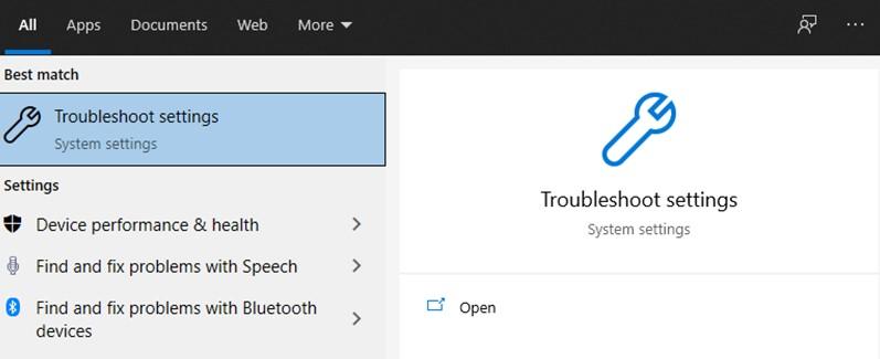 Utilisez l'outil de dépannage de Windows