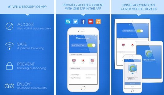 VPN et proxy Hotspot Shield