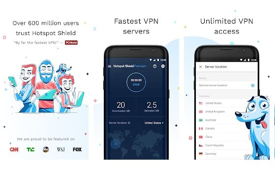 VPN et proxy Hotspot Shield01