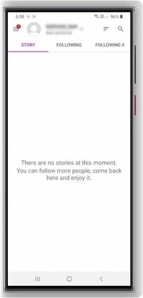 connecter à l'application.