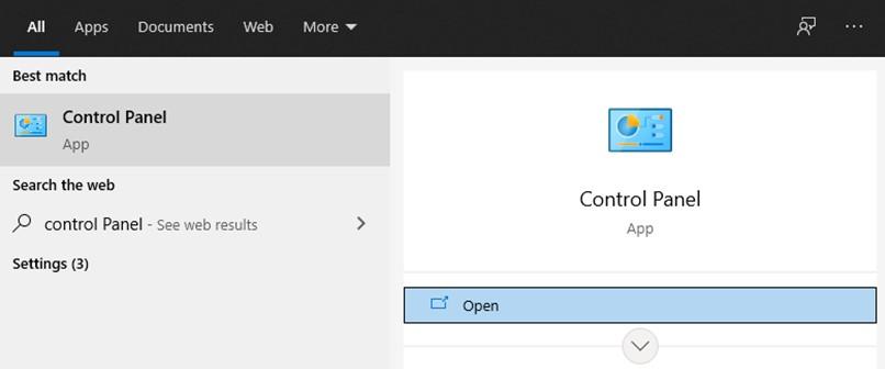 la barre de recherche Windows