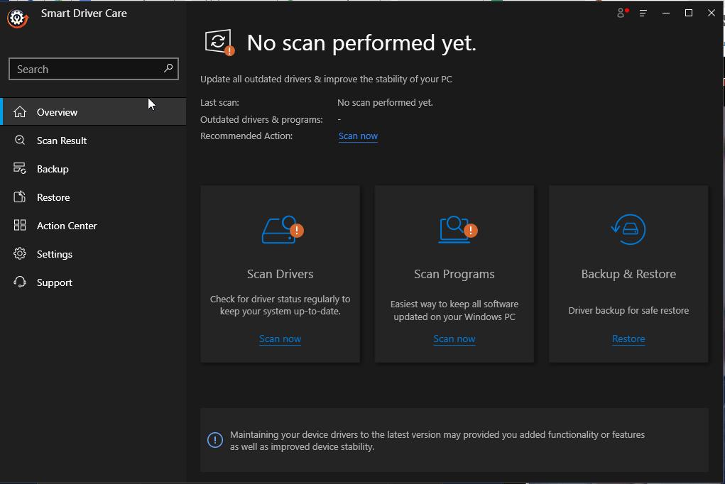 mise à jour du pilote pour Windows