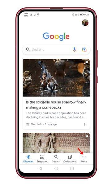ouvrez l'application Google