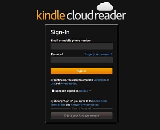 site Web Amazon Kindle