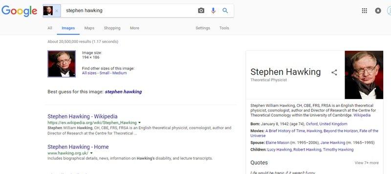 1. Reconnaissance faciale de Google