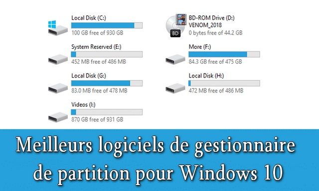 10 meilleurs logiciels de gestionnaire de partition pour Windows 10