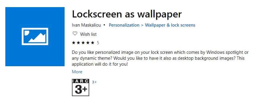 Lockscreen as wallpaper - applications fond d'écran