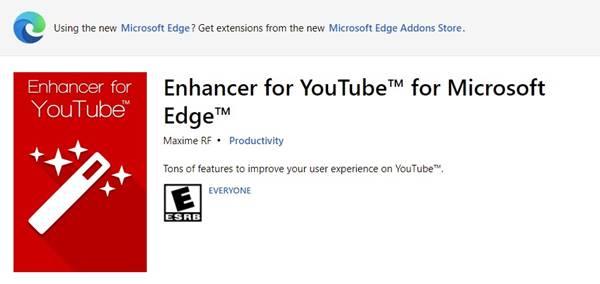 2. Enhancer for YouTube