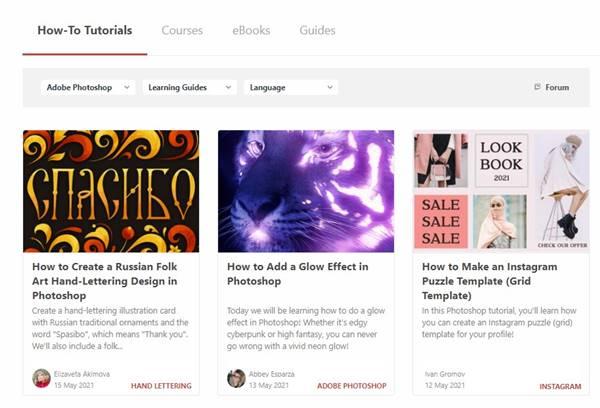 Tuts Plus - meilleur site web pour apprendre Photoshop