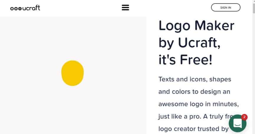 2. Ucraft Logo Maker