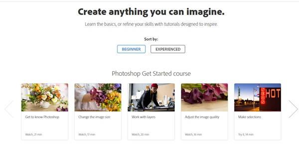 3. Photoshop tutorials from Adobe
