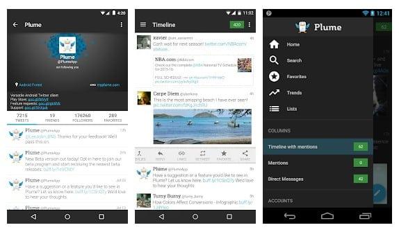 4. Plume for Twitter