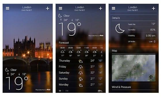 Yahoo Weather - meilleurs widgets météo