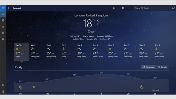 5. MSN Weather