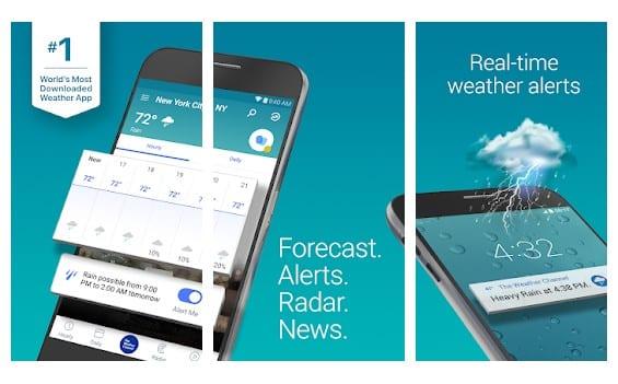 The Weather Channel - meilleurs widgets météo