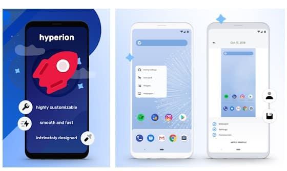 Hyperion Launcher - meilleurs launchers Android