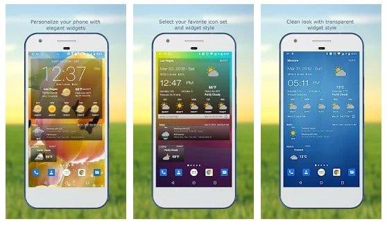 En ce qui concerne les meilleures applications météo pour Android, Devexpert.NET a les meilleures applications. Weather & Clock Widget de DevExpert apporte également un excellent choix de widgets utiles pour la météo et l'heure. C'est une application gratuite qui propose différents widgets pour différentes informations. Par exemple, vous pouvez choisir un widget pour afficher l'humidité, la direction du vent, la pression, l'heure du lever / coucher du soleil, etc.