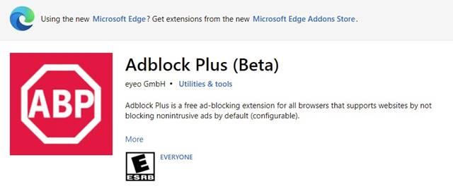 7. Adblock Plus (Beta)
