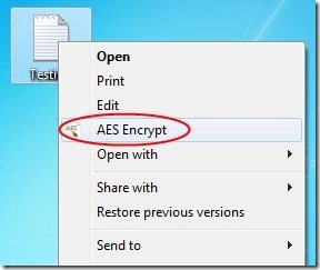 7. Crypt AES