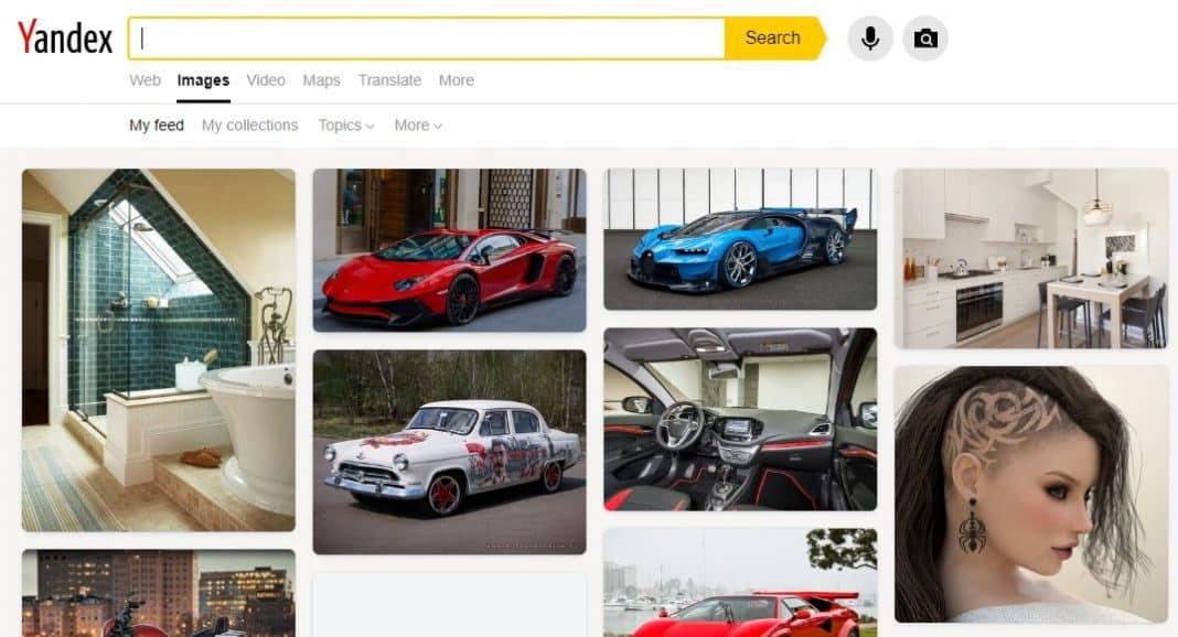 7. Recherche d'image inversée Yandex